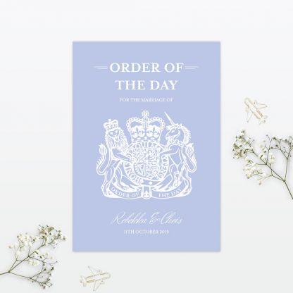 Wedding Passport Order of the day Destination Love Invited