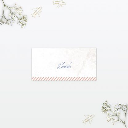 Wedding Place Card Destination Love Invited