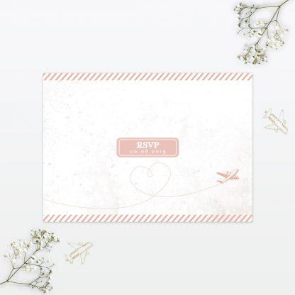Wedding Postcard RSVP Destination Love Invited