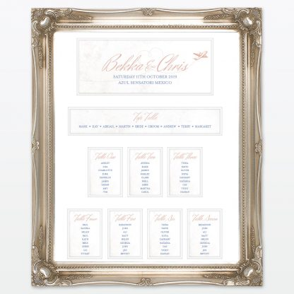 Destination Table Plan - Wedding Stationery