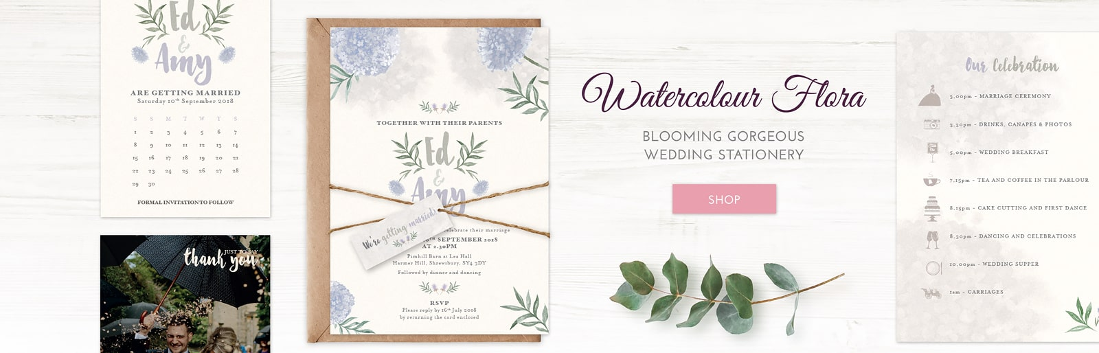 Wedding Invitation Watercolour Collection Luxury Wedding Stationery