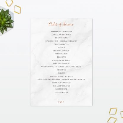 Geometric Order of Service - Wedding Stationery