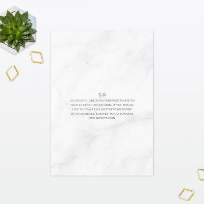 Geometric Wedding Invitation Foil Love Invited