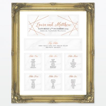 Geometric Table Plan - Wedding Stationery