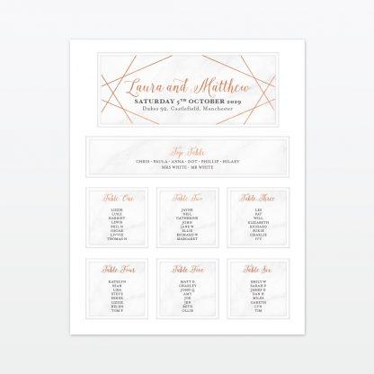 Wedding Table Plan Geometric Love Invited