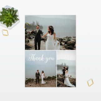 Wedding Thank You Card Geometric Love Invited
