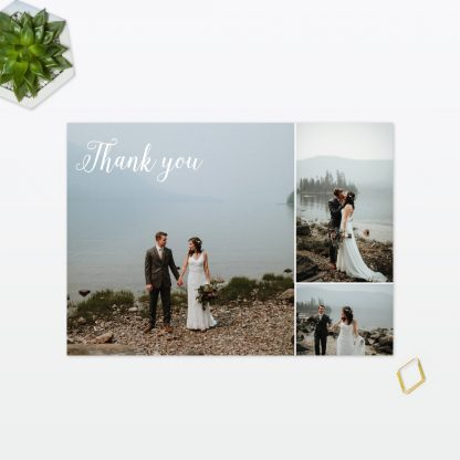 Geometric Thank you card - Wedding Stationery