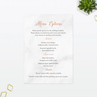 Wedding Invitation Menu Geometric Foil Love Invited