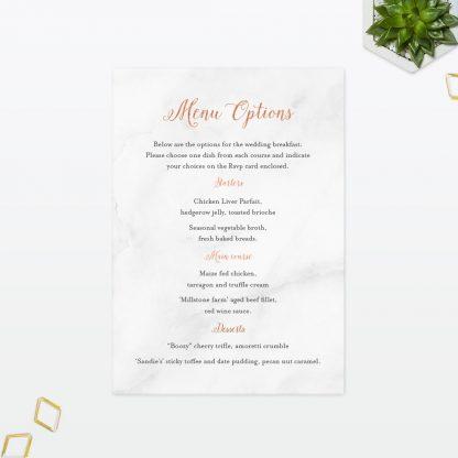 Wedding Invitation Menu Geometric Foil Love Invited