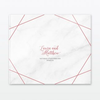 Wedding Photo Book Geometric Love Invited