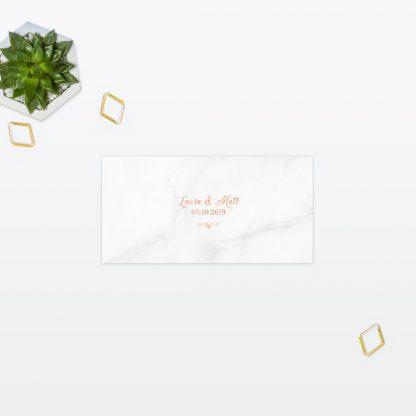 Wedding Place Card Geometric Foil Love Invited
