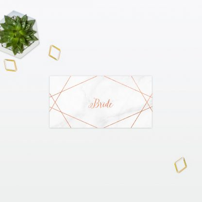 Geometric Place cards - Wedding Stationery