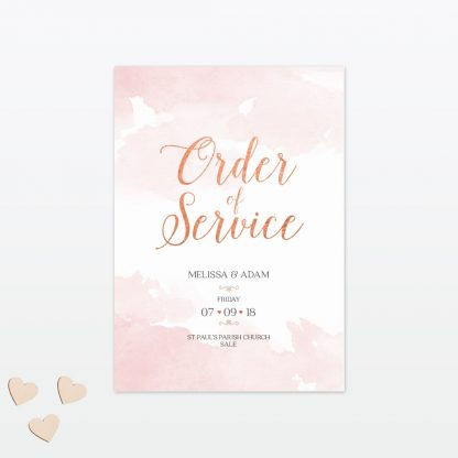 Sweetheart wedding order of service Love Invited