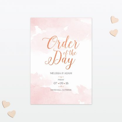 Wedding Order Of The Day Sweetheart Love Invited