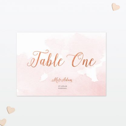 Wedding Table Numbers Sweetheart Love Invited