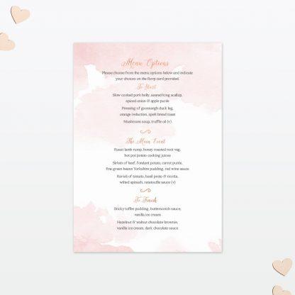 Wedding Invitation Menu Sweetheart Love Invited