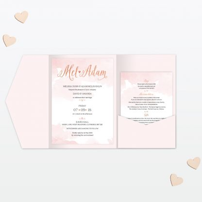 Sweetheart Wedding Invitation Pocket Folder Love Invited