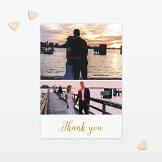Wedding Thank You Card Sweetheart Love Invited