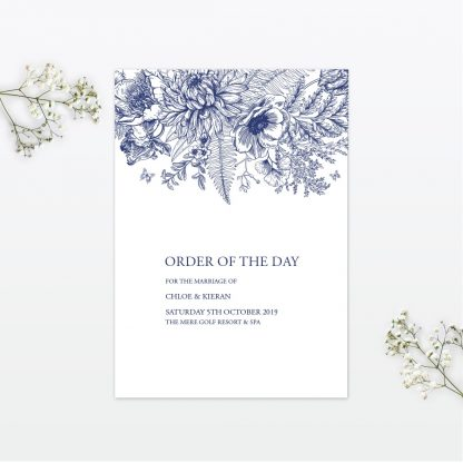 Beautiful Butterfly wedding order of the day Love Invited