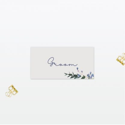 Botanical Wedding Place Card Love Invited