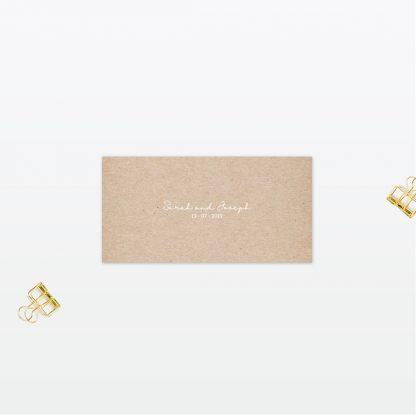 Botanical Wedding Place Card Love Invited