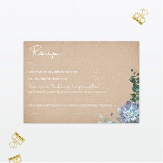 Botanical Wedding Postcard RSVP Love Invited