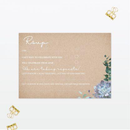 Botanical Wedding Postcard RSVP Love Invited