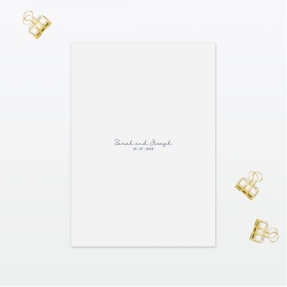 Botanical wedding additional information Card Love invited