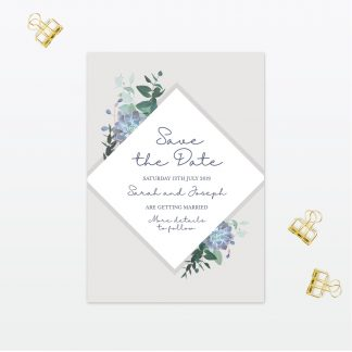 Botanical Wedding Save The Date Love Invited