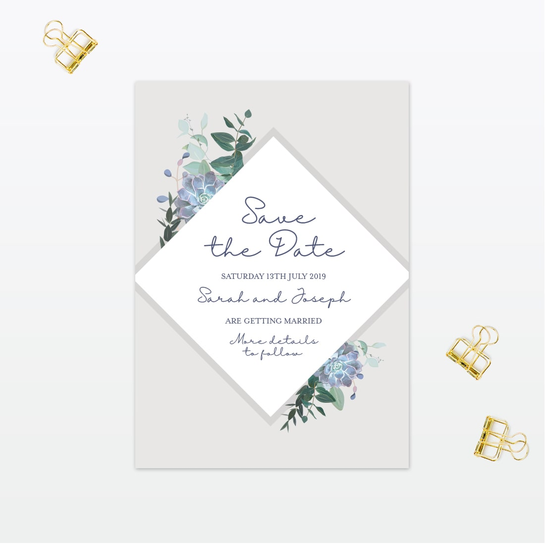 Botanical Save The Date Love Invited