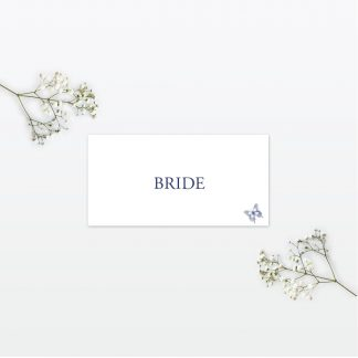 Beautiful Butterfly wedding place card Love Invited