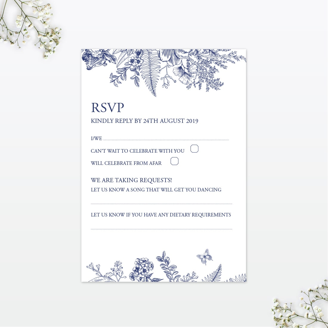 Beautiful Butterfly RSVP