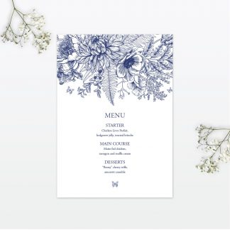 Beautiful Butterfly wedding table menu Love Invited