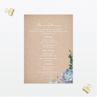 botanical wedding invitation menu love invited