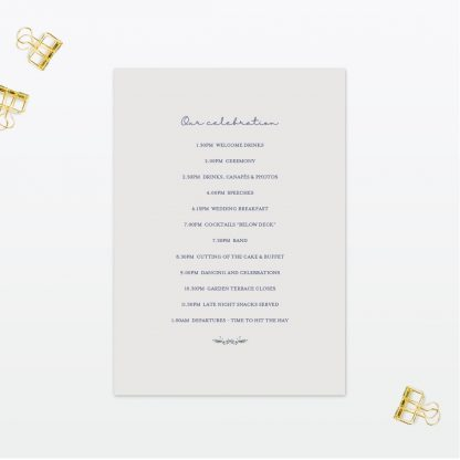 Botanical Order Of The Day - Wedding Stationery