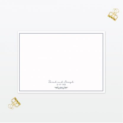 Botanical wedding Thank you card Love Invited