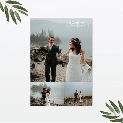 Love Birds wedding thank you card Love Invited