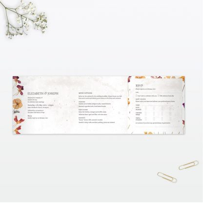 Spring Blossom 6 page Wedding Invitation Vintage Love Invited