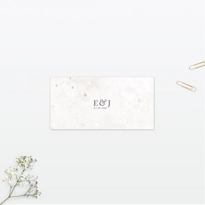 Spring blossom wedding place card vintage Love Invited