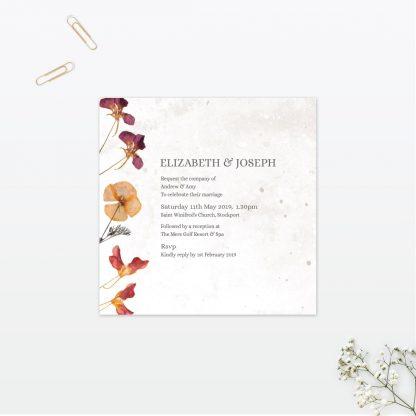 Spring Blossom Single Card Wedding Invitation Vintage Love Invited