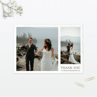 Spring Blossom Wedding thank you card Love Invited