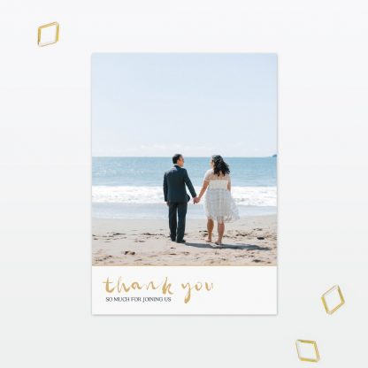 Summertime wedding thank you card Love Invited