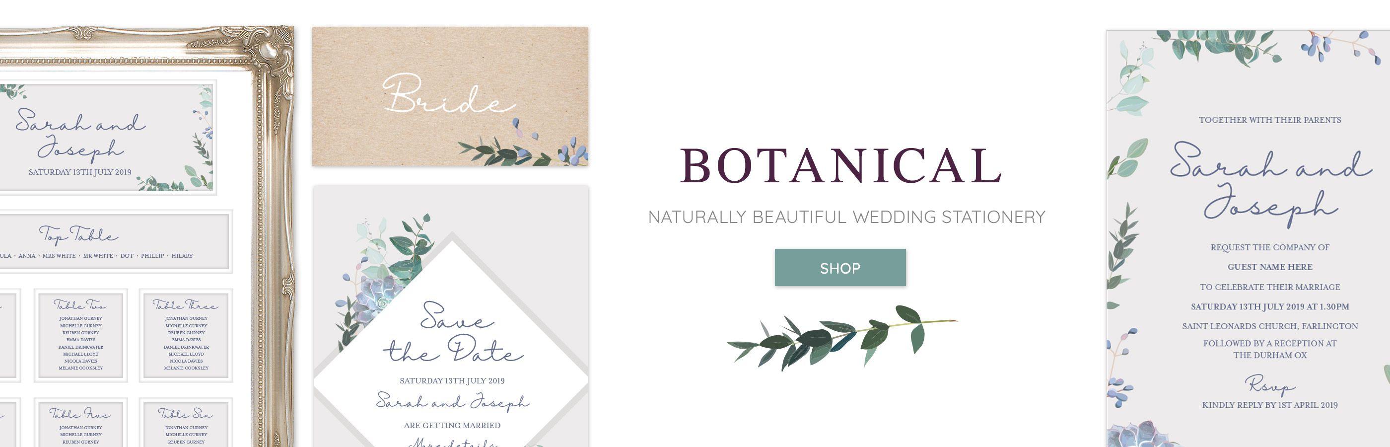 Botanical Wedding Stationery Love Invited