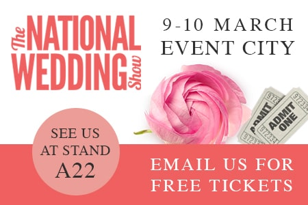 Email us for Free Tickets to the National Wedding show in March!