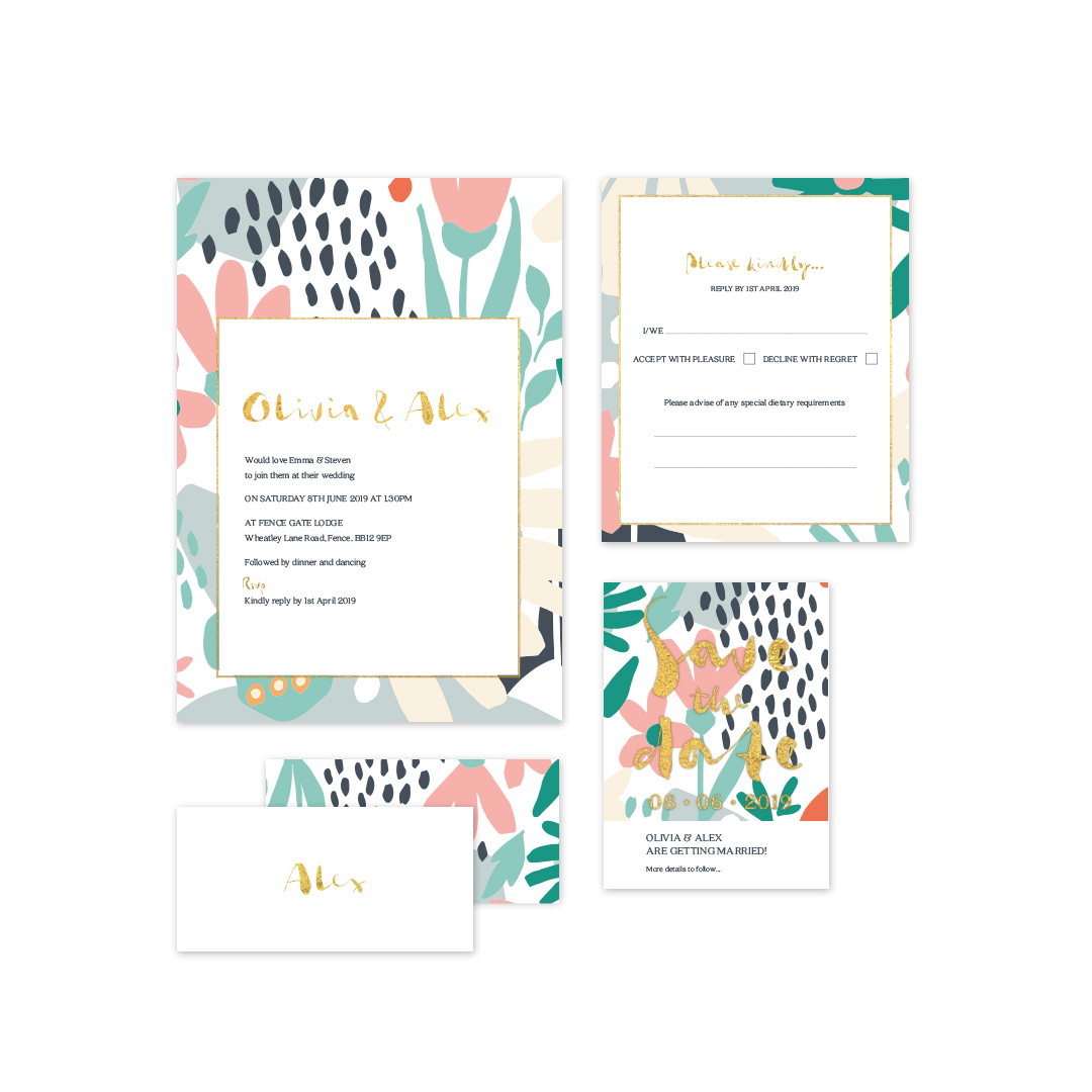 Love Invited Summertime wedding stationery collection