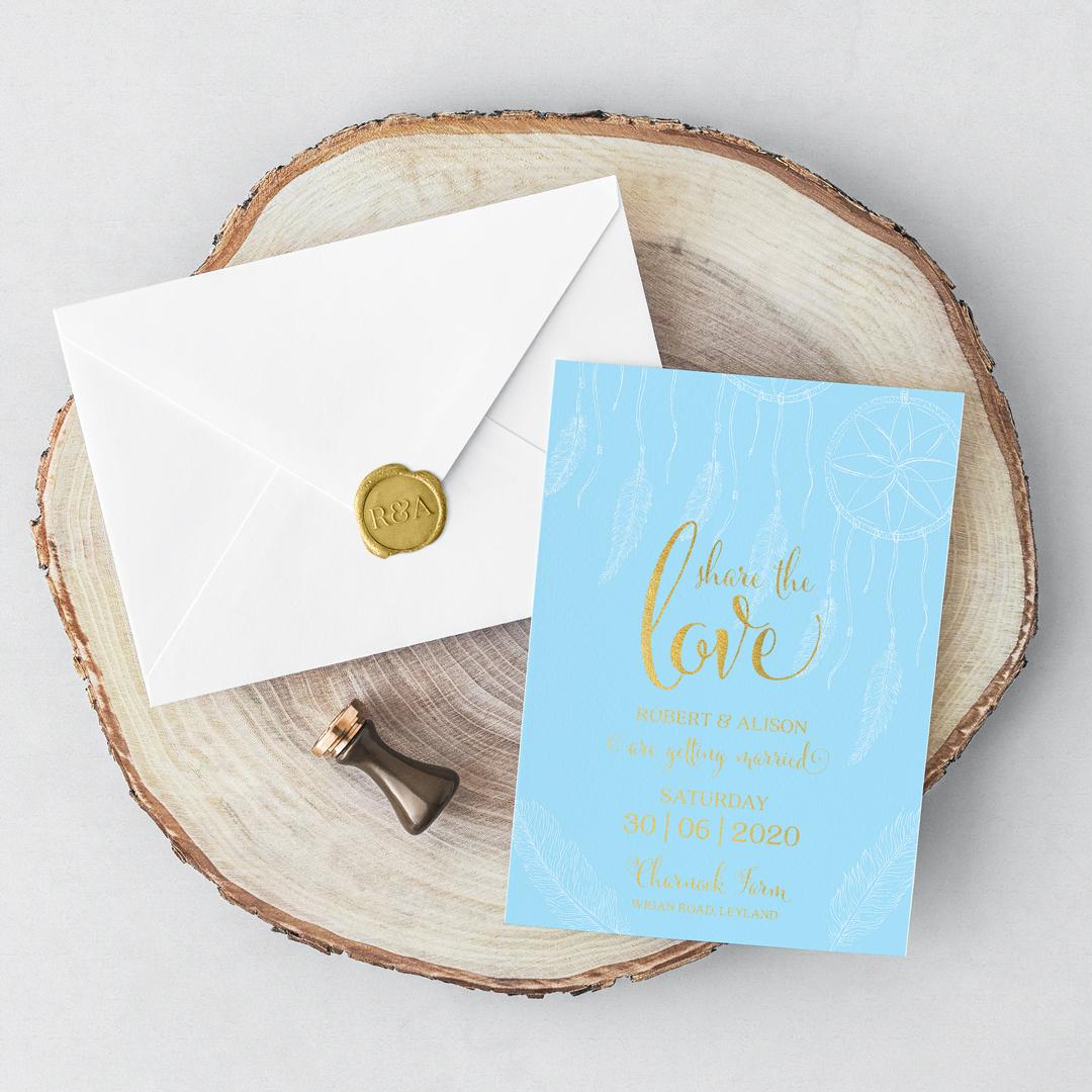 Boho Invitation Card Envelope 1080