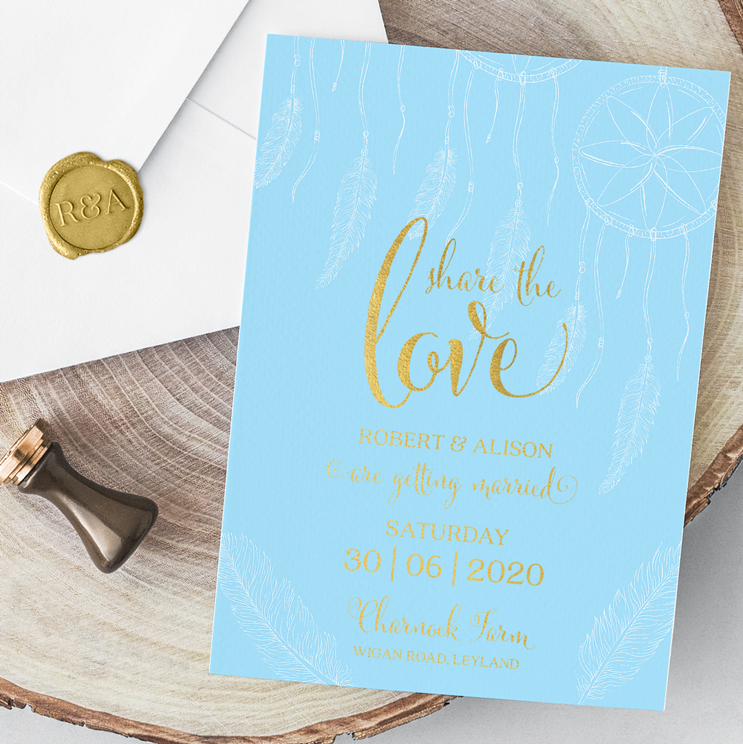 Boho Invitation Card Envelope closeup 1080
