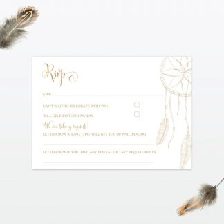 dreamcatcher wedding RSVP card1 min 1