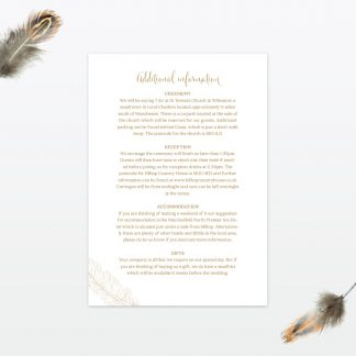 dreamcatcher wedding invitation guest information1 min 1