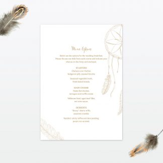 dreamcatcher wedding invitation menu2 min 1
